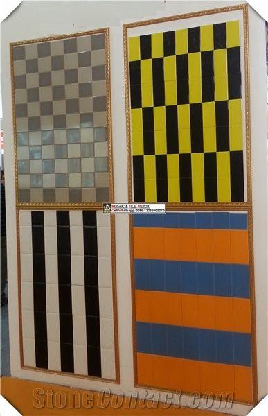 Colored Ceramci Tile Subway Small Size Ceramic Wall