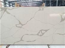 Calacatta Quartz Stone Slabs & Tiles, White Engineered Stone