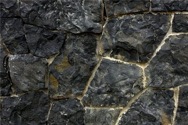Natural Stone Thin Veneer Rock Cascade Black Random From
