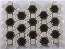 Crackle Ceramic Mosaic Marble Tile Mosaic Pattern