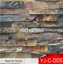 China Natural Rusty Slate Stone, Rough Surface Ledge Stone, Rustic Stone Indoor and Outdoor Wall Cladding