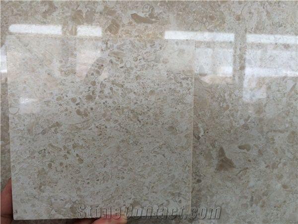 White Rose Slab Beige Marble Tiles Natural Building Stone