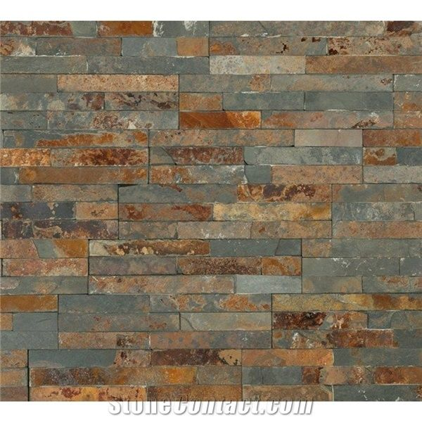Split Face Multicolour Rusty Slate Natural Stone Cladding