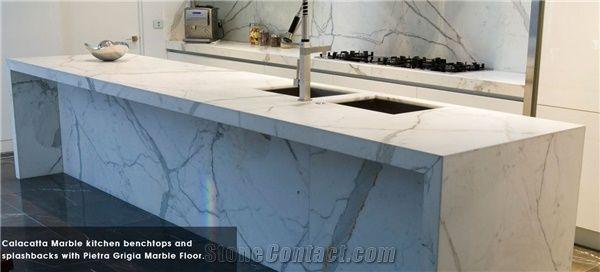 Strange Calacatta Marble Kitchen Bench Top From Australia Machost Co Dining Chair Design Ideas Machostcouk