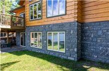 Muskoka Black Granite Knee Wall Building Stone