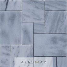 French Pattern Mosaic White Sky Marble Kavalas