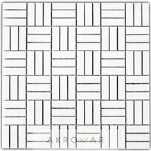 Mosaic Thasos Tetris, Marble Thasos Mosaic