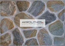Polygonal Antique Aqua Multi - Flagstone