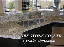 New Caledonia Granite Kitchen Tops Countertops Polished Stone Vanity Low Price