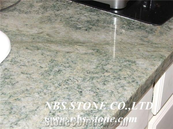Purpose Costa Esmeralda Brazil Green Granite Kitchen Tops Countertops Polished Stone Low Price