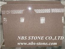 Salisbury Pink Granite,Polished Tiles& Slabs,Flamed,Bushhammered,Cut to Size for Wall Covering,Flooring,Project,Building Material