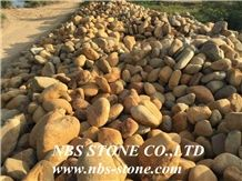 Yellow Round Cobblestone,Cheap Landscaping Pebble Stone , River Gravel Stone for Outdoor,Garden Decoration