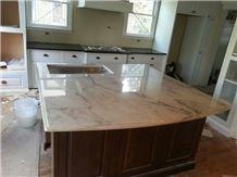 Calacatta Danby Marble Kitchen Island Top