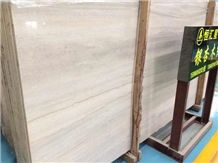 China White Ginkgo Wood Vein Polished Walling Tile,China Moca Cream Marble Slabs,Beige Wooden Grain Tiles for Bathroom Wall