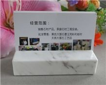 White Marble Name Card, Business Card Holder