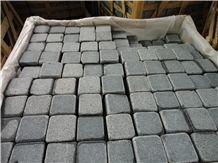 China G654 Dark Grey Granite,Grey Granite Cobbles,Tumbled Cubestone,China Grey Cobble Stone,G654 Cobble Stone,Dark Grey Paving Stone,Antique Paving Stone, Granite Cobble,Outdoor Paving Stone,Park