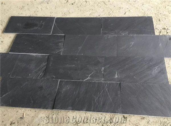 Slate Floor Tiles Wall Stone Polished Black Panel Flooring Paving China Slabs