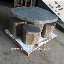 China Basalt Garden Chairs,Grey Basalt Garden Table Sets,Grey Basaltina Exterior Furniture,Zhangpu Basalt Patio Tables,Gray Bluestone Outdoor Chairs