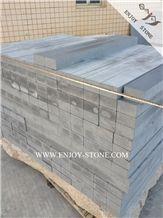 China Grey Basalto/Andesite/Basaltina Stairs&Steps,Honed Finish Stair Treads,Stair Thresholds