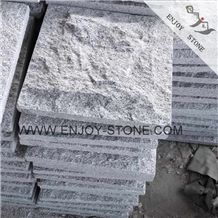 Chinese G603 Grey Granite Paving Stone,Cube Exterior Building Stone,Cheap Ash Gray Granite Paver Stone,Cube Stone,Drive Way Patio Paving Stone with Mushroom Finish ,Split Face Mushroom Stone