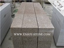 G682 Yellow Rusty Granite Stairs&Risers,Flamed Granite Stairs Treads,Steps for Outdoor Decoration