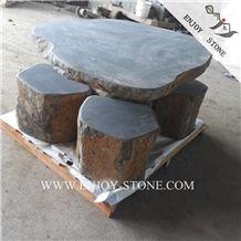 Grey Basaltina Exterior Furniture,China Grey Basalt Garden Table Sets,China Basalt Garden Tables,Zhangpu Basalt Patio Tables