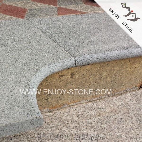 Grey Granite Swimming Pool Coping Stone,Curved Pool Coping Piece ...