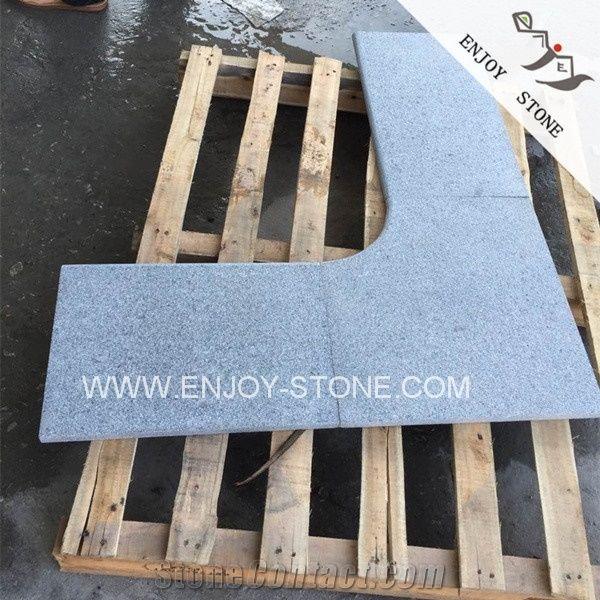 Padang G Dark GreySesame BlackGray Granite Swimming Pool Border - Curved tile border