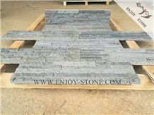 Split Face Grey Volcanic Lava Stone Wall Cladding,Cultured Stone Wall Decoration,Thin Stone Vaneer