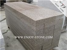 Yellow Granite G682 Flamed Stairs&Steps,China Sunset Gold Deck Stair,Stair Riser