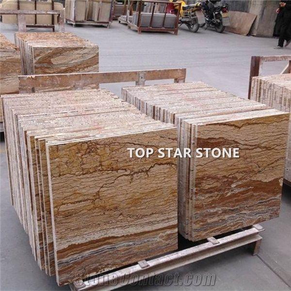 Noce Walnut Travertine Dark Brown Color Travetine 12x12 Floor Tile