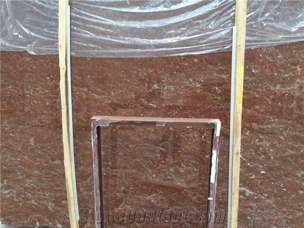 Rose Red Marble Natural Stone Tile Slab, Red Marble on Sales Direct ...