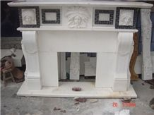 Greece Volakas White Marble Fireplace Decorating, Supply Various Of Style Sculptured Fireplace Mantel, Cover, Surround, Remodelings, Natural Building Stone Decoration in Room