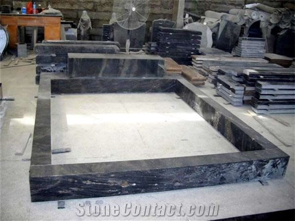 Ireland Uk Style Bahama Blue Granite Tombstone Orion
