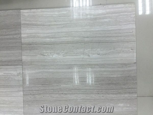 Marble Slab Big Slab Silk Georgette Light Grey Wood Grain