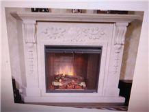 Polished White Marble Fireplace Mantel/Hearth/Design/Surround, Volakas Fireplace, British Style Fireplace.
