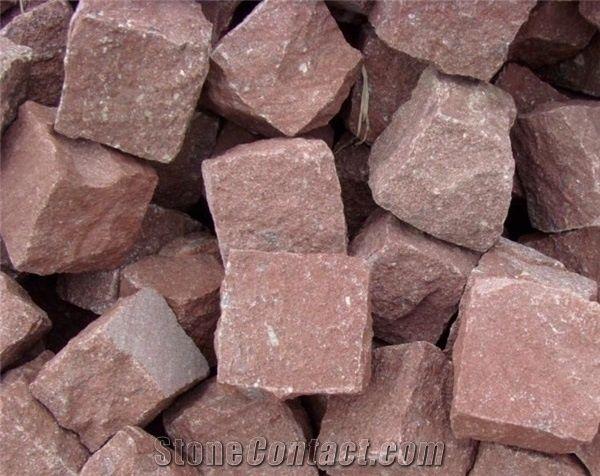 028ef2f29f1 Red Porphyry Cubestone  Sesame Grey  Pandang Dark Grey Granite Cube Stone  Pavers  Exterior Stone for Landscaping Stone
