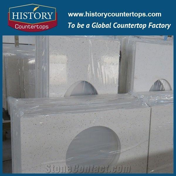 Best Quartz Countertop Options, Polished And Honed Pearl White Engineered  Quartz Stone Countertop,For Hotel Kitchen,Backsplash Walling Panel  Customized Edge