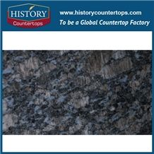 China Stone Saphir or Sapphire Blue Granite Counter Top Materials from India, Granite Polishing Solid Surface with High Quality & Cheap Good Option for Kitchen Countertops
