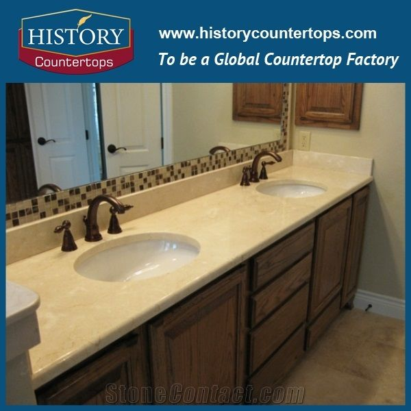 Cream Beige Marble Bath Tops Beige Color Natural Marble Natural Stone Bathroom Tops Bathroom Countertops Beige Marble Surface Bathroom Vanity Countertops Marble Stone Bath Tops Marble Countertops From China Stonecontact Com
