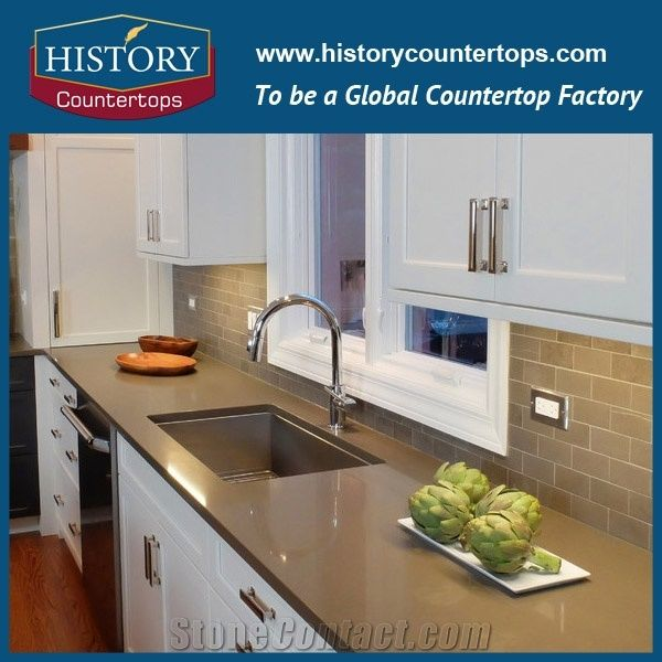 Diffe Types Of Quartz Countertops Color Surfaces Custom Shasta Brown Countertop Kitchen Top Table Island