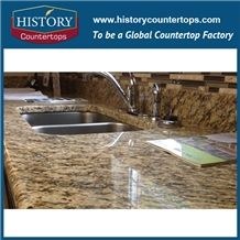 Giallo Santa Cecilia Granite Kitchen Countertops Vanity Top,Brazil Amarelo St Cecilia Light Yellow Prefab,Bathroom Counter Tops Customized Kitchen Island,Worktops,Desk Tops