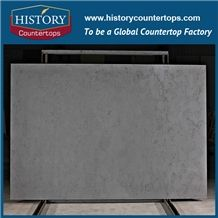 Ice Age Grey Artificial Quartz Stone Slabs for Countertops, Bath and Kitchen for Hospitality, Hotel,Commercial,Condo Project, Polished Slabs, Tiles