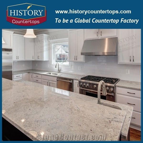 New River White Granite Countertops, Custom Counter Tops