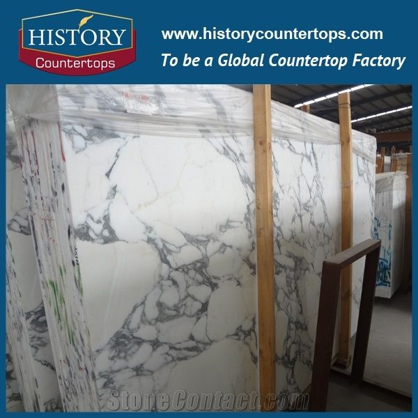 White Marble Prefab Kitchen Countertops Natural Stone Bench Tops Bar Top High Polished Worktops Whole Price