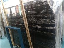 China Sliver Black Marble, Dragon Black, Origin in China, Elegant Dragon Black Marble Tile & Slab with Flooring Covering Tile, Wall Covering Tile Decoration