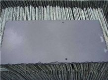 Black Grey Slate Roof Tiles with Nail Holes