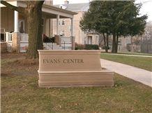 Indiana Limestone Ripon College Sign