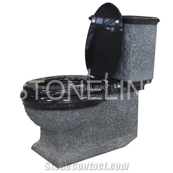 Natural Stone Bathroom Accessories Black Granite Toilets Water Closet
