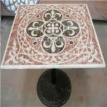 Antique Stone Mosaic Table,Interior Stone Round Mosaic Table Top,,Mosaic Furniture